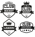 Set of Vintage Ice Hockey Club Badge and Label vector image