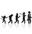 Evolution of the man Stick Figure Pictogram Icon vector image vector image