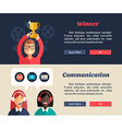 Flat Design Concept for Web Banners Winner vector image