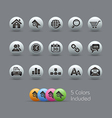 Website Internet Icons Pearly Series vector image