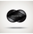 Luxury black bubble badge vector image vector image