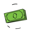 cash icon isolated on white background Cartoon vector image