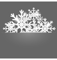 Christmas decoration background vector image