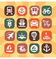 color transportation icons vector image