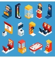 Game Machine Isometric Icons vector image