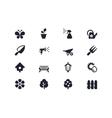 Gardening icons Lyra series vector image