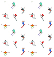 happy skiers vector image