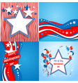 july fourth holiday set vector image