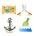 treasures pirate adventures toy accessories icons vector image