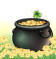 A pot of gold in the garden vector image vector image