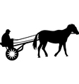 man and horse vector image