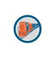 Diesel Train Circle Retro vector image