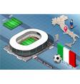 Isometric Stadium Olimpico Rome Italy vector image