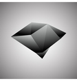 Abstract Creative concept icon of black diamond vector image