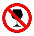 No alcohol sign Warning sign vector image