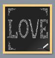Valentine card on chalkboard vector image vector image