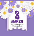 8 march international womens day background vector image