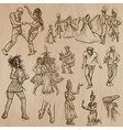 Dancers - Hand drawn pack vector image