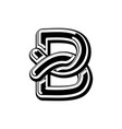 letter b celtic font norse medieval ornament abc vector image