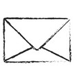 monochrome blurred silhouette of sealed envelope vector image