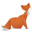 paper fox isolated icon vector image