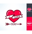 Set of i love you hipster design with vector image