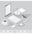 isometric branding mock-up vector image vector image