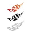 eagle fire vector image