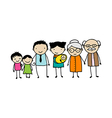 Doodle family with three generations vector image vector image