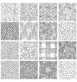 sketch linear seamless patterns set vector image