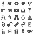 Valentines day icons on white background vector image vector image