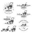 Set of vintage garden service emblems vector image