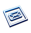 3d glossy email icon vector image