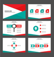 Red green presentation templates Infographic vector image