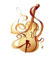 Abstract musical instrument gold violin vector image