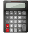 black calculator with solar cell vector image