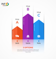 column chart infographic template 3 options vector image