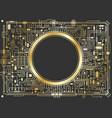 gold chipset digital background vector image