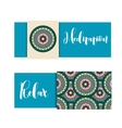 Horizontal banner with mandala ornament vector image