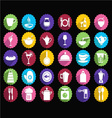 kitchen Set of tableware icons vector image
