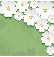 Vintage floral background with 3d flower vector image