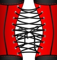 background red black corset vector image