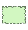 Parchment old paper Empty banner green vector image
