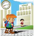 meeting at school vector image vector image