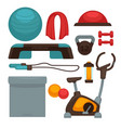 gym or fitness center sport equipment and vector image