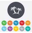 Palm Tree sign icon Travel trip symbol vector image