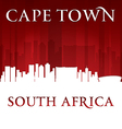 Cape Town South Africa city skyline silhouette vector image vector image