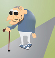 Cartoon old man vector image