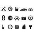 black auto icons set vector image