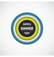 Summer colorful star badge vector image